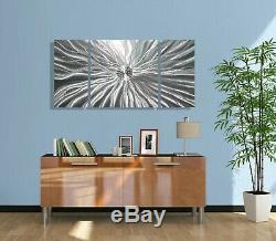 Statements2000 3D Metal Wall Art Panels Modern Silver Accent Decor by Jon Allen