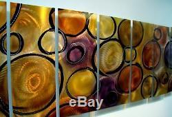 Statements2000 3d Metal Wall Art Panels Modern Gold Purple Painting Jon Allen