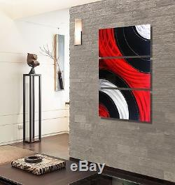 Statements2000 Metal Wall Art Modern Red Black Panels Jon Allen Critical Mass 2
