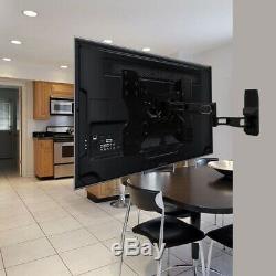 TV Stand Flat Panel Wall Mount Tiltable Solid Die Cast Aluminum Powdercoat Black
