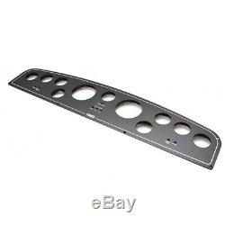 Tiara Yacht Boat Blank Gauge Panel 30 x 6 1/2 Inch Aluminum Black