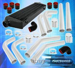 Tube & Fin Front Mount Intercooler Fmic 64mm Aluminum Pipe Piping Kit Unit Set
