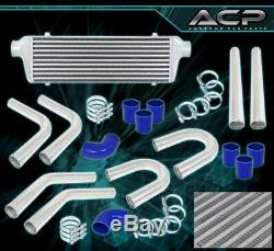 Turbo/Super Charger 2.5 Aluminum Piping Kit + Fmic Front Mount Intercooler Blk