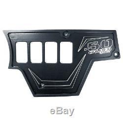 USA Made 3pc Dash Panel 6 Switches Polaris RZR UTV S 1000 2 4 Seat Stealth Black