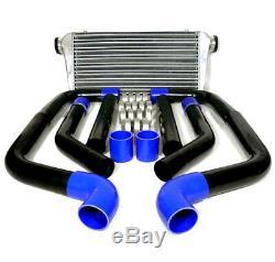 Universal 8Pc 2.5'' Black Aluminum Fmic Piping Kit Diy Pipe + Custom Intercooler