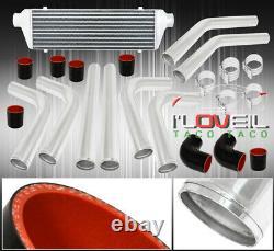 Universal 8Pc 3 Aluminum Fmic Turbo Intercooler 2.5 Piping Black Coupler Kit