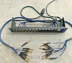 Van Damme/VDC/Neutrik 16 XLR Jack 2U 32 Way Patchbay 19 Rack Panel Mount D Type