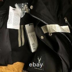 Very Cool Rick Owens DRKSHDW Flight jacket black/chestnut/aluminum panel Sz S