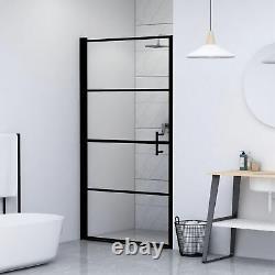 VidaXL Shower Door Tempered Glass 31.9x76.8 Black
