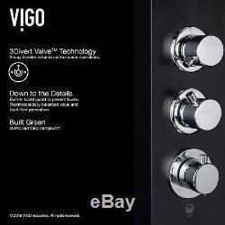 Vigo Callaway Satin Finish Aluminum Shower Massage Panel Black