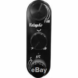 Vintage Air 491226-RVA Gen IV Magnum Aluminum Control Panel Black Anodized