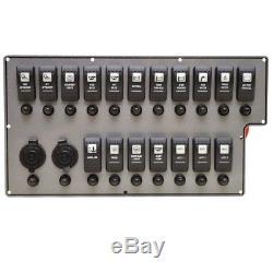 Wellcraft Boat Helm Switch Panel 025-4066 30 Scarab Sport Gray Black Aluminum