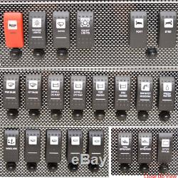 Wellcraft Boat Helm Switch Panel 025-4082 210 Black Silver Aluminum