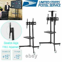 Ysoo Mobile TV Cart for 32 to 65 LCD LED Plasma Flat Panel Stand with Wheels