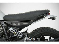 ZD782F-P2 Side Panels Zard Black Aluminum Ducati Scrambler 400/800 (15-19)